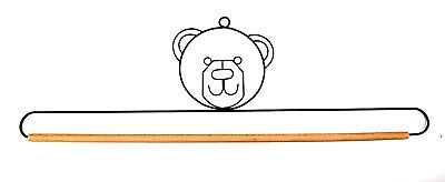 "Wire Quilt Hanger with ""Bear"" on Top & Wood Dowel  18"", 22"" & 26"" x 4"" High"