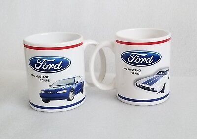 Ford Mustang Coffee Mug Set of 2 Ford Official Licensed Product