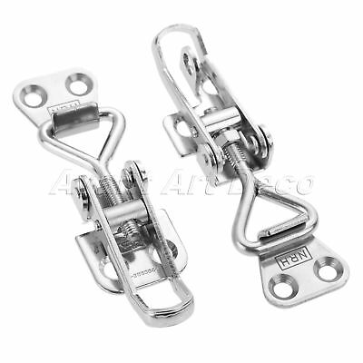 Metal Trunk Case Box Hasp Spring Loaded Catch Latch Adjustable Toggle Clamp Clip