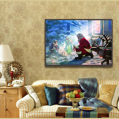 5D DIY diamond painting embroidery Christmas Santa Claus cross stitch home decor