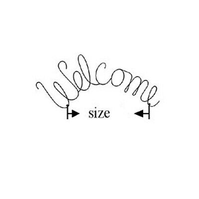 """Welcome"" Theme Wire Quilt Hanger  8""  & 14"""