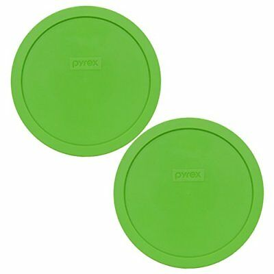 Pyrex 7402-PC 2PK Green Plastic Round 6/7 Cup Storage Lid Cover for Glass Bowl