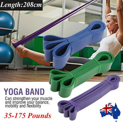 SET POWER Heavy Duty RESISTANCE BAND Gym Yoga LOOP Exercise Fitness Workout AU
