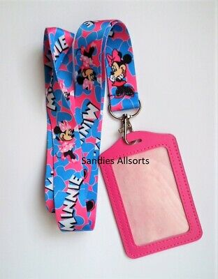 Disney Minnie Mouse Lanyard Neck Strap + ID / Pass / Business Card Holder