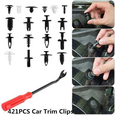 421pcs Car Body Trim Clips Retainer Bumper Rivets Screws Panel Push Fastener Kit
