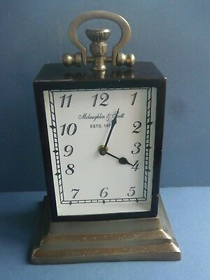 Rare Oversized Mclaughlin & Scott  Mantel Clock In The Style Of A Carriage Clock