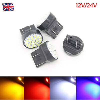 T20 W21/5W 580 Sidelight 7443 22 LED Dual Filament DRL Bulb Hid Effect 12V 24V