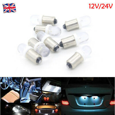 T11 T4W BA9S 233 H6W 1 LED Car Dashboard Light License Plate Lamp Bulb 12V/24V