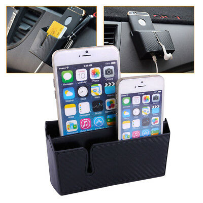 Car Accessories Black Phone Organizer Bag - W/ Charging hole Easy to Charge