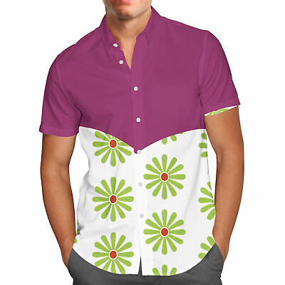 Haunted Mansion Tightrope Walker Mens Button Down Short Sleeve Shirt