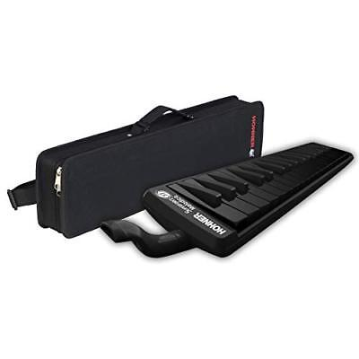Hohner SuperForce 37 Key Melodica with Beautiful All-Black Design Included Case