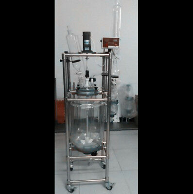 CE 50L  Jacket Chemical Reactor, Glass Reaction Vessel Free shipping