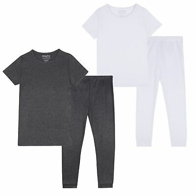 Boys Girls Thermal Set Short Sleeve T-shirt Leggings Long Johns Warm Base Layer
