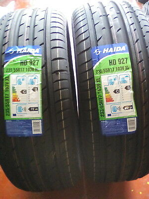 New 2 X 235 55 R17 103V Xl Haida Hd927 New Tyres Amazing Wet Grip B 2355517 New