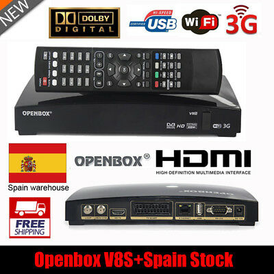 Genuine Openbox V8S Satellite Receiver FTA Digital Receptor PVR HD 1080P HDMI ES