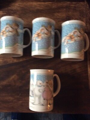 Royal Doulton — The Snowman Gift Collection — 4 Kaffeebecher