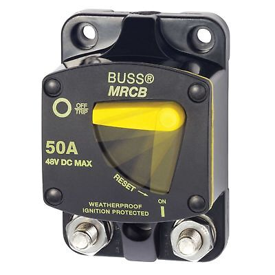 Bussman 187 Series DC Circuit Breaker - Surface Mount - 50 Amps BLUESEA/MARPAC
