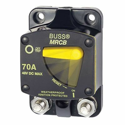 Bussman 187 Series DC Circuit Breaker - Surface Mount - 70 Amps BLUESEA/MARPAC