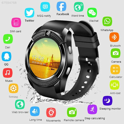 C8A8 V8 Smart Wrist Watch Bluetooth SIM Phone & Camera For iOS Android Monitor