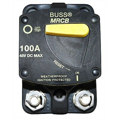 Bussman 187 Series DC Circuit Breaker - Surface Mount - 100 Amps MARPAC 7-1735