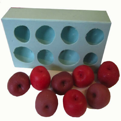 New Cherry Embed Soap / Wax Silicone 8 Cavity Mould
