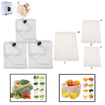 Cotton Mesh Bags Produce Bag Fruit Vegetable Shopping Storage Reusable Net Bag
