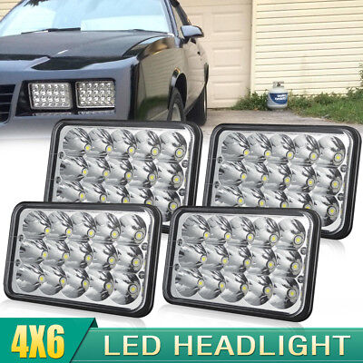 "4pcs 4X6"" LED Headlights Hi/Lo Light Sealed Beam Headlamp For 2000 National RV"