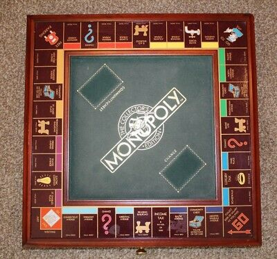 Monopoly Collectors Edition Board Game Franklin Mint 1991 Board And Pieces