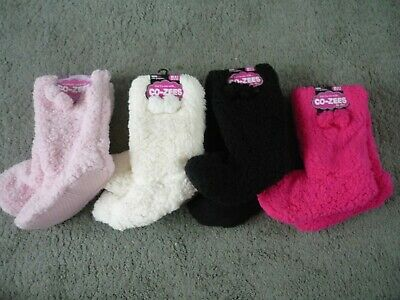 ladies slipper boots from Co-zee fleece Sherpa Luxuriously soft 4-6 4 colours