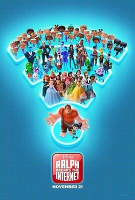 Disney RALPH BREAKS THE INTERNET   D/S 27 X 40    NEW AUTHENTIC STUDIO POSTER
