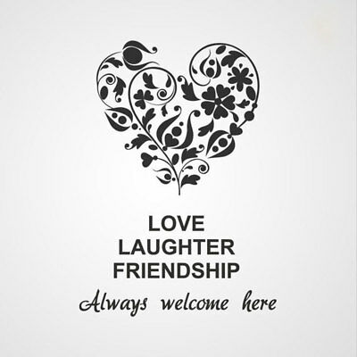 ,Love Laughter Friendship.'' Quote Big Sizes Reusable Stencil Modern Style / Q26