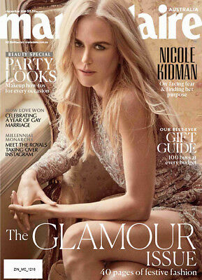Marie Claire Australia Magazine December 2018, Nicole Kidman, The Glamour Issue