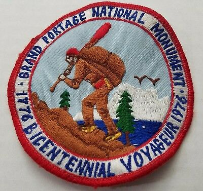 Grand Portage National Monument Patch Minnesota Bicentennial Voyager 3.5""