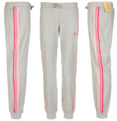82754939 Womens adidas Climalite Cotton Yng Tracksuit Bottoms Track Pant Grey New  Sealed