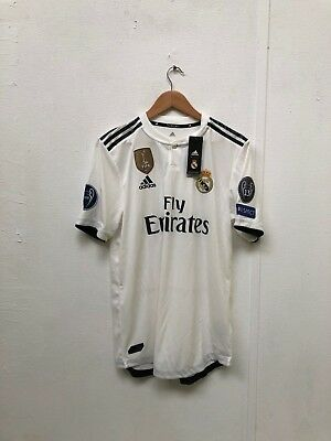 adidas ClimaChill Men's Real Madrid 18/19 CL Home Shirt- L - Sergio Ramos 4 -New