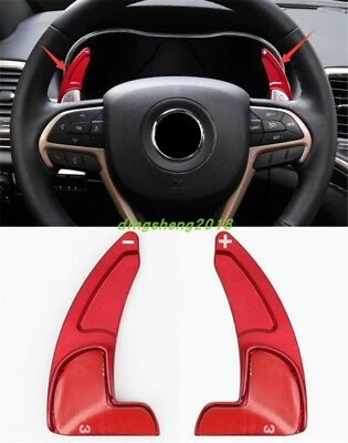 Red Steering Wheel Shift Paddle Shifter Trim For Jeep Grand Cherokee 2014-2018