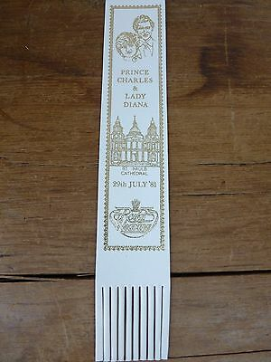 Charles and Diana Wedding Leather Bookmark By Charles Letts Original Choice Col