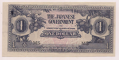 1942 Japanese Invasion of Malaya One Dollar--Pristine Condition  !!