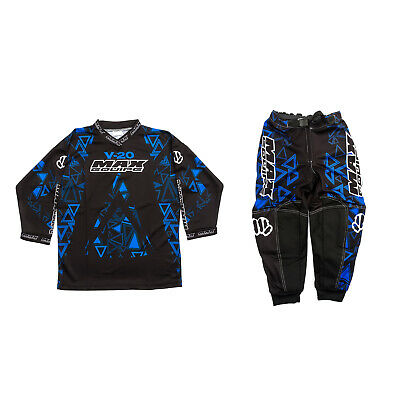 Wulfsport V20 Max Equipe Red/Blue Kids Junior Race Jersey & Trouser MX Motocross