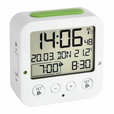 "TFA ""Bingo"" Digital Alarm Clock with Radio-Controlled Time & Backlight"