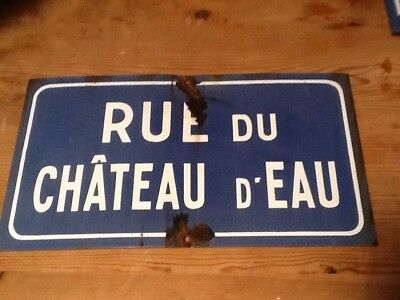 Old Vintage French Road Sign