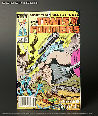 THE TRANSFORMERS #13 1985 Marvel Comics US G1 Megatron cover 181017x3