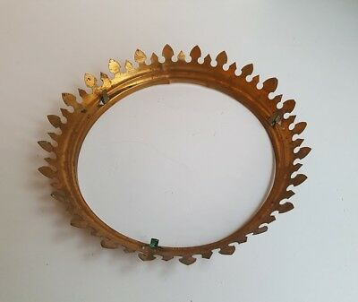 Antique Brass Crown Ring for Victorian Hanging Lamp Shade