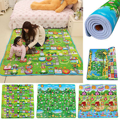 200CM Baby Crawling Puzzle Mat Soft EVA Foam Kids Play Carpet Home Floor Blanket