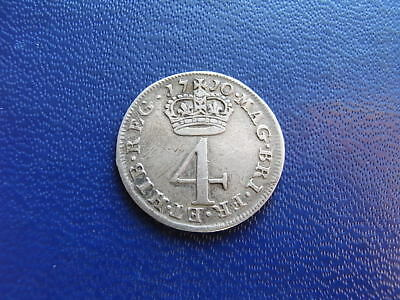 Queen Anne Maundy Fourpence coin 1710