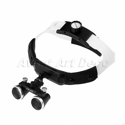3.5X 60mm Dental Loupe Surgical Binocular Loupes Dental Headband 320-420mm