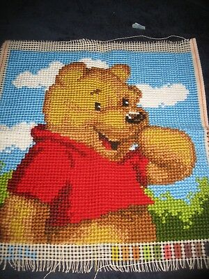 Winnie the Pooh Completed Tapestry to make cushion, picture etc