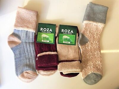 3 pairs LADIES HIGH QUALITY CHUNKY THERMAL WOOL SOCKS BOOT HIKE SIZE 4-7  PSLGJT
