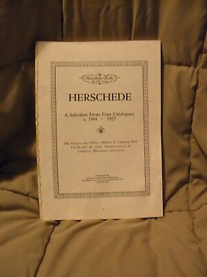 1991 Herschede Clocks A Selection From Four Cataloges Book