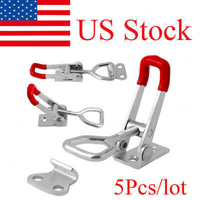 5pc Quick Toggle Clamp 100Kg 220Lbs Holding Latch Clip Metal Tool Clamps GH-4001
